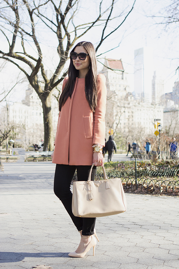 Zara Pink Winter Coat