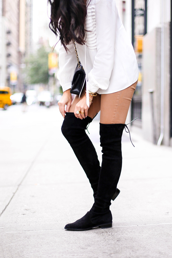 9129aebe2e9 Stuart Weitzman over the knee black suede boots